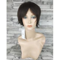 Парик из натуральных волос черный короткий модель 01
