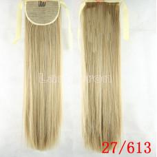 Хвост прямой блонд 27-613 60см 100г