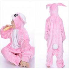 Пижама Розовый заяц  на рост 130