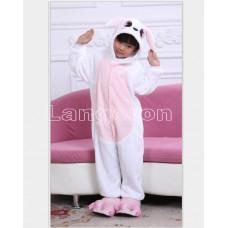 Пижама Белый заяц с розовым животом  на рост 130