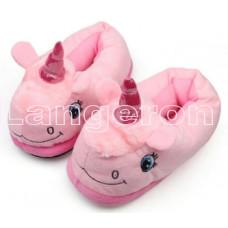 Тапочки ЕДИНОРОГ розовые с задником тапки домашние 35-40 размер