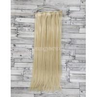 Трессы ровные набор блонд №613 16 клипс 55см 6 прядей 140г