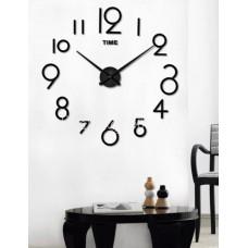 Настенные часы объемные 3d  разборные с арабск цифр до 1м черные