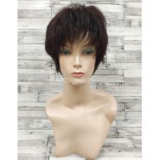 Парик из натуральных волос короткий модель М19 точка