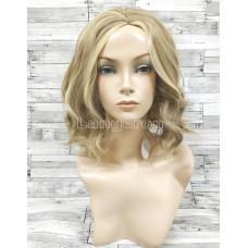 Парик блонд волнистый 35см каре с пробором мелирование №087