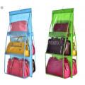 Органайзер для хранения сумок 6 карманов. Ширина 35см высота 83см карман 17*25см