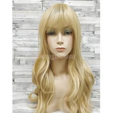 Парик блонд волнистый 70см с пробором и челкой №038