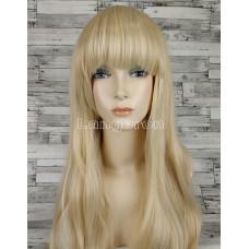 Парик блонд ровный 70см с челкой №131