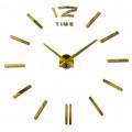 Часы 3d объемные разборные с полосками золотые до 1м