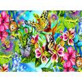 Картина для выкладывания квадратными камнями Бабочки на цветах 30*40см