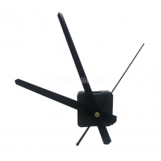 Часовой механизм маленький 19,3 см минутная стрелка цвет черный