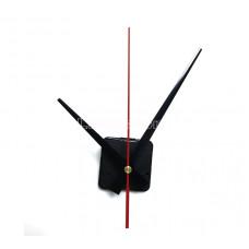 Часовой механизм маленький 16,3 см минутная стрелка цвет черный красная секундная