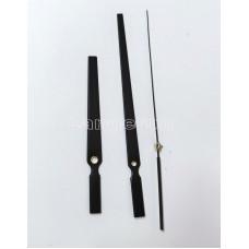 Стрелки для настенных часовых механизмов черного цвета стрелка 19 см