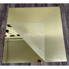 Акрил зеркальный цвет золото  На задней стороне двусторонний скотч! 1 мм  60*60 см