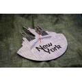 """Часы настенные из фанеры """"New York"""" любого цвета"""