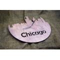 """Часы настенные из фанеры """"Чикаго"""" любого цвета"""