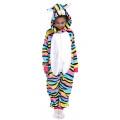 Пижама кигуруми для детей  Котенок в полосочку разноцветный на рост 95-110 см