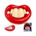 Соска прикольная с зубами пустышка зубы