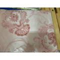 Постельное белье, комплект Евро размер сатин жаккард бордовый с принтом