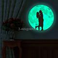 Наклейка светящаяся в темноте Влюбленные диаметр 30см