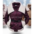 Куртка на пуху фиолетовая весенняя демисезонная пуховик женский