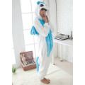 Пижама Единорог белый M рост 156-165 с голубыми крыльями и животом кигуруми kigurumi