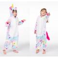 Пижама детская Единорог звездный на рост 125-130см kigurumi разноцветный со звездами кигуруми