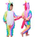 Пижама детская Единорог радужный на рост 125-130  разноцветный Кигуруми