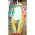 Пижама Единорог радужный на рост 135-140см kigurumi разноцветный кигуруми