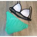 Купальник зеленые плавки розовый лиф M