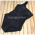 Купальник сдельный на одно плечо черн с прозрач вставк S