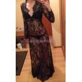 Пеньюар платье из кружева черное для фотосессий, фотосессий беременных М