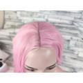 Парик с пробором волнистый розовый 70см