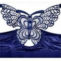 Бюстгальтер 110 D-E синий с бабочкой с застежкой спереди
