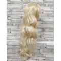 Парик блонд волнистый 80см с косой челкой длинный