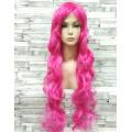 Парик малиновый волнистый 80см ярко-розовый аниме косплей cosplay