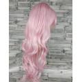 Парик волнистый розовый нежный 70см аниме