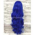 Парик синий волнистый 80см искусственные волосы аниме карнавальный косплей cosplay