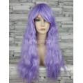 Парик фиолетовый волнистый 70см светлый с челкой лавандовый