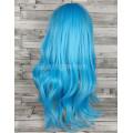 Парик голубой прямой 60см искусственные волосы аниме косплей cosplay