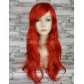 Парик красный прямой 70см искусственные волосы аниме косплей cosplay