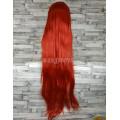 Парик красный прямой 100см косплей cosplay ровный искусственные волосы аниме