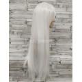 Парик белый ровный 80см длинный ровный искусственные волосы аниме карнавальный косплей cosplay