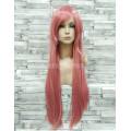 Парик розовый прямой 80см длинный аниме карнавальный косплей cosplay ровный
