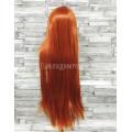 Парик рыжий прямой 80см длинный аниме карнавальный косплей cosplay ровный оранжевый