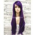 Парик фиолетовый прямой 80см длинный аниме карнавальный косплей cosplay ровный