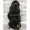 Парик черный волнистый 70см искусственные волосы длинный