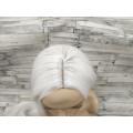 Парик белый ровный 100см с пробором без челки длинный
