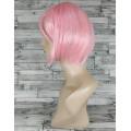 Парик розовый прямой 30см каре нежно-розовый аниме