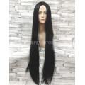 Парик коричневый ровный 100см с пробором искусственные волосы темный косплей cosplay прямой